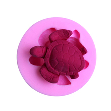 DIY Sea Turtle 3D Silicone Fondant Mold Cake Decoration Tool Chocolate Pudding Cake Mold Baking Tools Pastry Soap Molds(China)