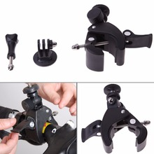 New Accessory Bicycle Bike/Motorcycle Handlebar Handle Bar Camera Mount Holder +Tripod Mount Adapter For GoPro Hero 1 2 3 3+ 4(China)