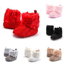 2017 New Baby Shoots Winter Warm Newborn Baby Snow Boots Infant Toddler Boy Girl Crib Shoes Prewalker Size 0-18M