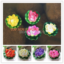6 COLORS AVAILABLE 10CM Small Artificial Water lily flower fish tank home wedding supermarket decoration foam spatterdock