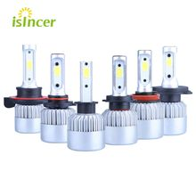 iSincer 2pcs Car LED Headlight 100W 16000LM H1 H4 H7 LED Headlamp Kit Hi/Lo Beam Bulb Kit 6000k 12V Auto for Auto G5 Car Styling
