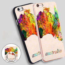 australia Phone Ring Holder Soft TPU Silicone Case Cover for iPhone 4 4S 5C 5 SE 5S 6 6S 7 Plus