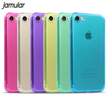 JAMULAR Crystal Clear Case for iPhone X 7 6 6s Plus 5S SE Soft Covers Transparent Silicone Cases for iPhone 6s 6 7 8 Plus Cover(China)