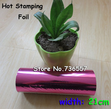 Free Shipping Purple Red Fuchsia Hot Foil Stamping Paper Heat Transfer Anodized Gilded Paper 21cm x 120m