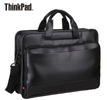 Original Lenovo ThinkPad Laptop Bag 15.6 inch Business Briefcase Shoulder Sags Supre Capacity Toploader Leather TL410(China)