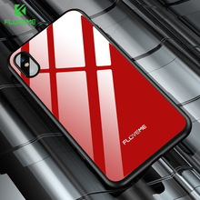FLOVEME Protective Tempered Glass Case For iPhone X iPhone 8 7 Plus Phone Bag Cases Heavy Duty Shell For iPhone X 8 7 Glass Case(China)
