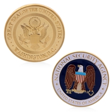 Gold Plated National Security Agency Commemorative Challenge Coin Collection Art
