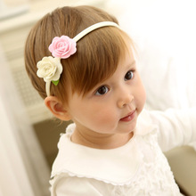 1 PCS New Design Lovely Flowers Baby Hairbands Elastic Hair Bands Kids Hair Accessories Girls Headwear Children Headbands(China)