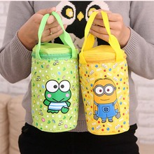 Amazing Cute Cartoon Animal Duck Minions Doraemon Bob Infant Baby Feeding Bottle Bag Warmers Bag