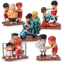 Anime Cartoon Slam Dunk Sakuragi Hanamichi Rukawa Kaede PVC Action Figures Collectible Toys 5pcs/set