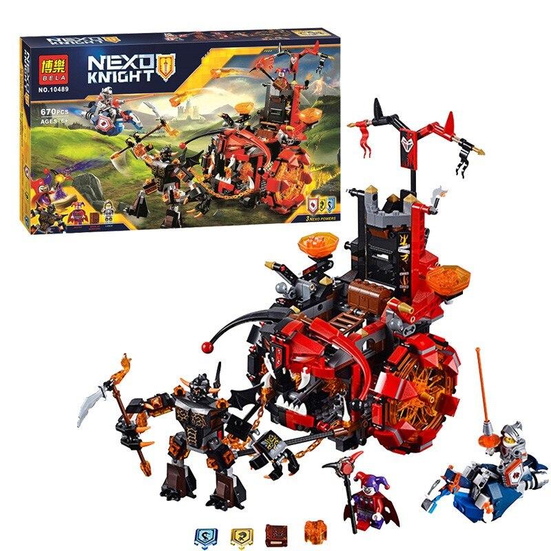 670pcs Nexus Knights Jestros Evil Mobile Mixed Building Block Sets Bricks Learning Kids Toys<br><br>Aliexpress