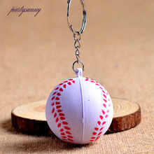 PF Baseball Keychain Pendant PU Foaming Baubles Keyring Charm Key Holder for Bags Purse Accessories Decoration Keychains YS068