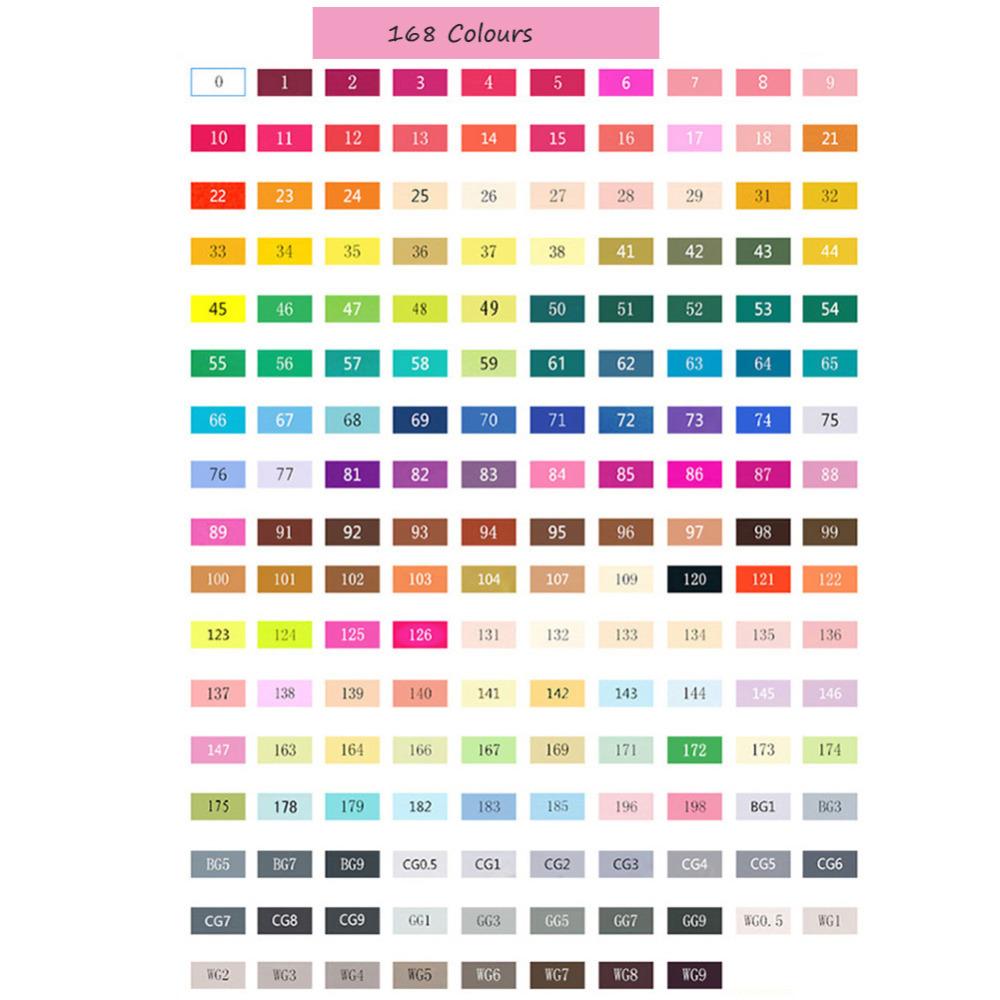 168 Colours