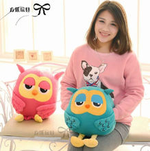 Candice guo korean Drama The inheritors The Heirs funny owl hand warm cushion pillow plush toy stuffed doll Valentine's gift 1pc