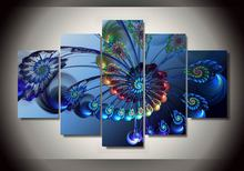 Modern Paintings 2017 Hot Sale Abstract Feathers Oil Painting On The Wall Art Canvas Pictures For Living Room Modular Pictures(China)