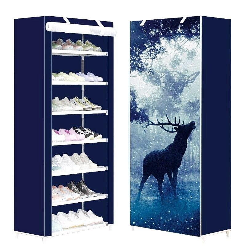 Modern creative fashion art simple non-woven shoes organizer shoes cabinet shoes closet multi-function super storage shoes rack<br>