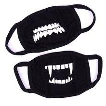 1PC Kawaii Anti Dust Mask Cotton Mouth Mask Cute Anime Cartoon Mouth Mask Personality Black Facial Protection Fashion Masks