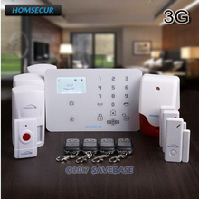 HOMSECUR Wireless&wired WCDMA 3G LCD Home House Alarm System With Touch Keypad(China)