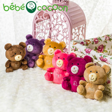 bebecocoon New Arrival Random 10CM 4pcs/8pcs 12 Zodiacs Teddy Bear Plush Toy Keychain Bear Stuffed Teddy Bear Gifts Set for Kids(China)