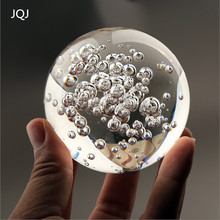 JQJ 6 cm Crystal Glass marbles water fountain bubble ball feng shui decorative glass balls Home indoor water fountain Figurines(China)