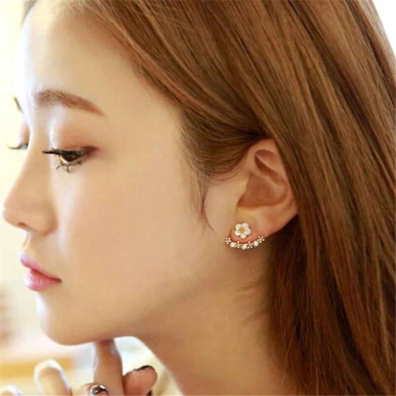 2018 NEW Trendy earrings for women Fashion Flower Crystal Ear Stud Earrings Earring Jewelry for Gift Boucles d'oreilles J07#N (4)