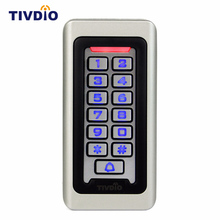TIVDIO Keypad RFID Access Control System Proximity Card Standalone 2000 Users Door Access Control Waterproof Metal Case F9501D(China)