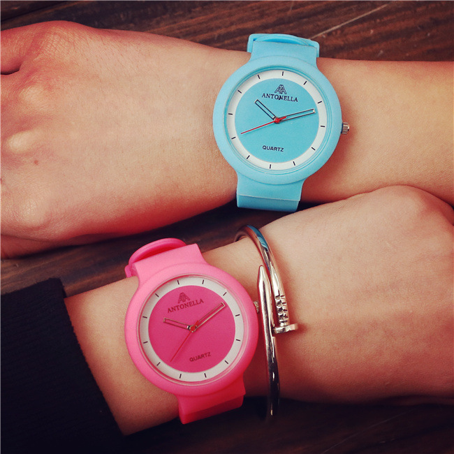 Quartz Watch Women Students Fashion Candy Colored Jelly Watch Korean Couple Boys Girls Casual Cute 2016 LZ560<br><br>Aliexpress