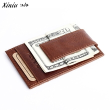 Top Selling Leather Mens Wallet Money Clip Purse ID Credit Holder Coin Clutch Wholesale