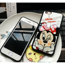 Luxury Cute Minnie Mickey Acrylic mirror Case for iPhone 5s Cases 5 6 6s Plus Cover for iphone 7 Case for iPhone 7 plus cases 10(China)