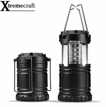 Free Shipping Ultra Bright Collapsible 30 Led Lightweight Camping Lanterns Light For Hiking Camping Emergencies Protable Lantern(China)