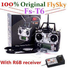 100% original FlySky fs-t6 with R6B Receiver RC Transmitter 6CH fly sky remote control drone helicopter