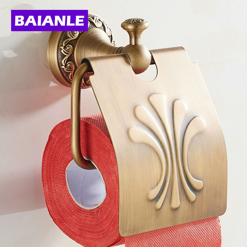 Good quality New Arrival Antique copper  finishing Paper Holder/Roll Holder/Tissue Holder,Bathroom Accessories<br>