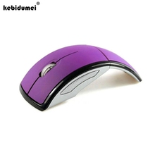 kebidumei Mini 2.4GHz mouse Foldable Wireless Arc Optical Mouse Mice with Mini USB Receiver for Pad PC Laptop Notebook Computer