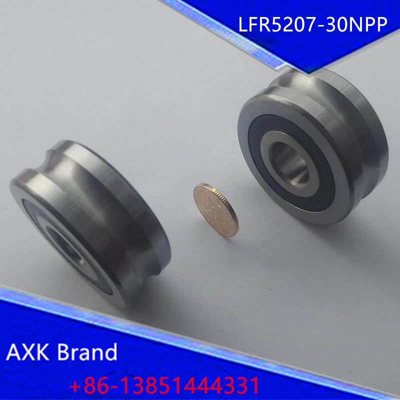 1PCS LFR5207-30NPP LFR 5207-30 NPP Track rollers double row angular contact ball bearings Gothic arch raceway groove<br><br>Aliexpress