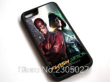 The Flash And Arrow TV Series W86 black Hard Plastic and Sillicon Back Mobile Phone Case Cover for iphone and Samsung Shell