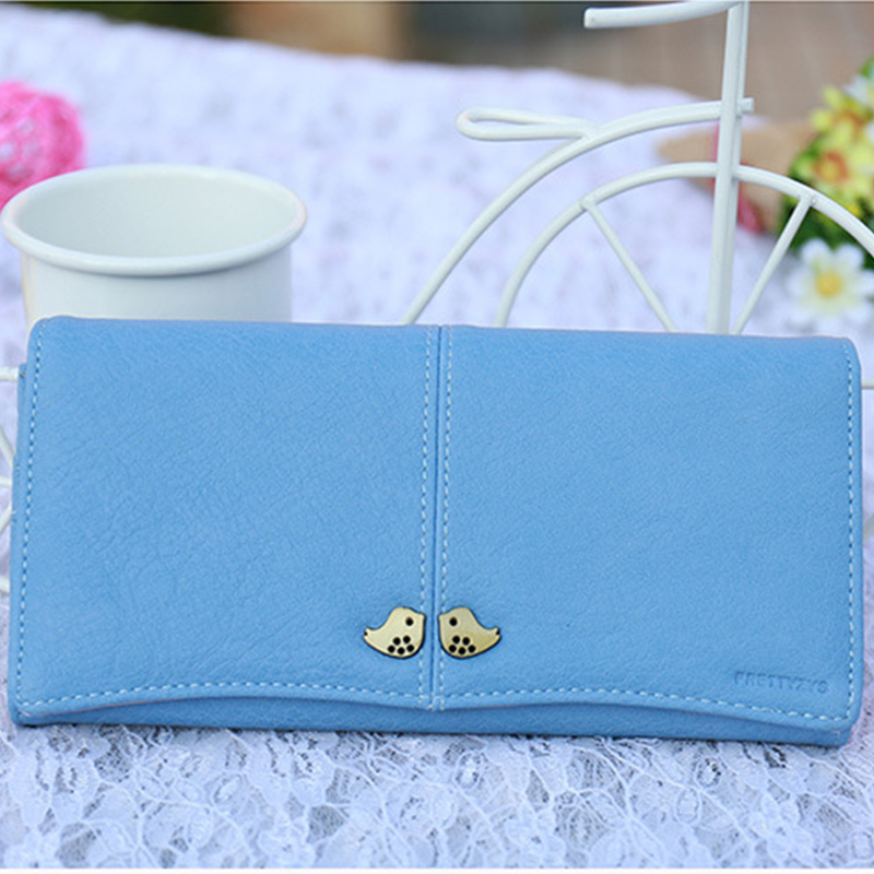 DUDINI Korean Style Purse Metal Cute Bird Decorative Hasp Short Section Simple Ladies Wallet PU Leather Simple Card Holder<br><br>Aliexpress