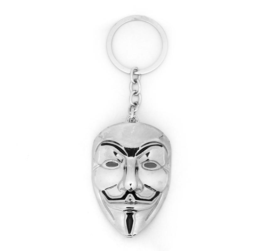 V for Vendetta Movie Logo Double Keychains Key Ring Pendant Key Chains Gift