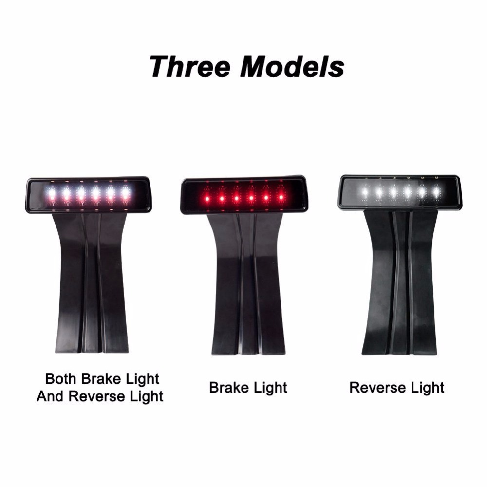 LED 3rd Third Brake Light for Jeep Wrangler JK Brake Tail Light Lamp Bulb Assembly Conversion Third High Mount Reversing lights<br>