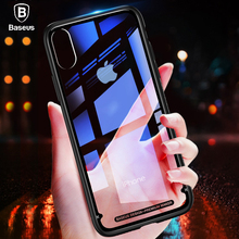 Buy Baseus Luxury Glass Case iPhone X 10 Coque Soft TPU Transparent Glass Back Protective Cover iPhonex Phone X Capinhas for $4.99 in AliExpress store