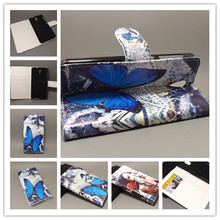 New Butterfly Flower Flag Designer Wallet Flip Stand Book Cover Case For HTC Desire 620 620G Desire 820 Mini freeshipping