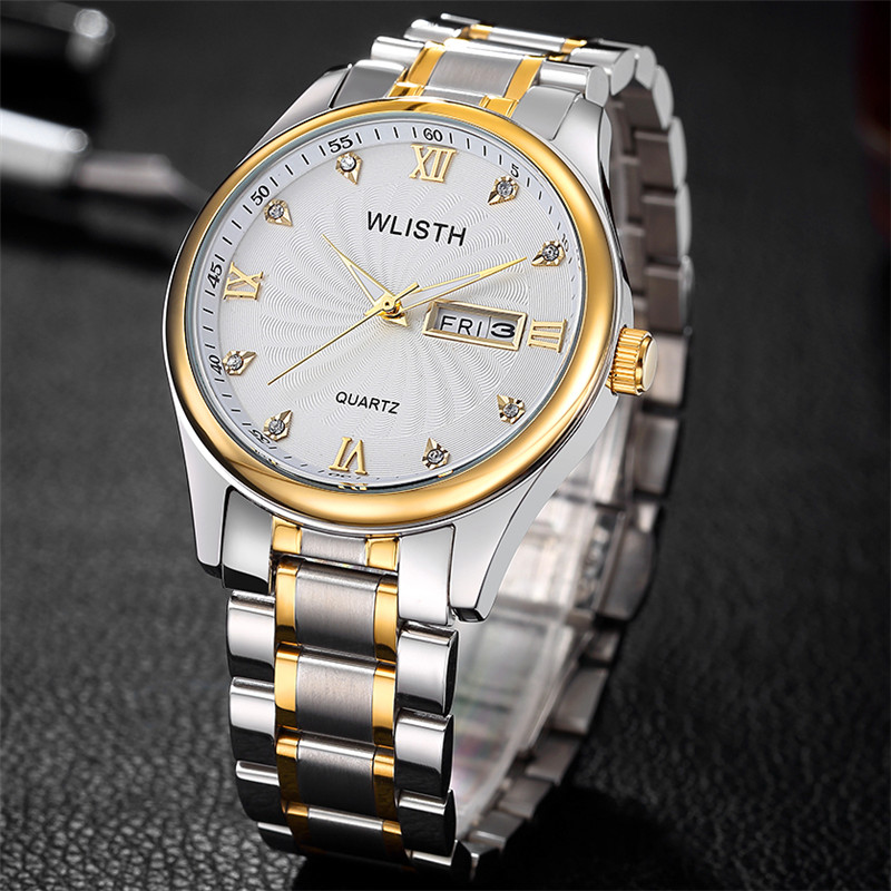 Luxury Brand Reginald Male And Ladies Business type Watch Men Date Stainless Steel Women Mens Sport Quartz Watches Reloj Hombre<br>