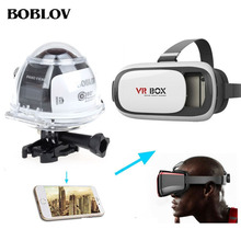 BOBLOV 360 Camera 4K Wifi Panorama Panoramic Video Camera Sport Action VR Camera with 3D VR Glasses 30m Diving Action Cam