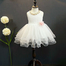 NEW Arrive Lace Flower Girl Dress Kid Party Bridesmaid Tutu Dresses Ball Gown Formal Dress