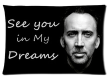 LU Rectangle Zippered Classic Nice Best Custom  Pillow Case Two-sided Pillow Nicolas Cage Durable Pillow Cover #P0112
