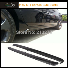 CARBON FIBER BODY KITS SIDE SKIRTS FOR VW GOLF VI 6 MK6 Standard & GTI 2008 2009 2010 2011 2012 Car Styling - JUN-CHI Official Store store