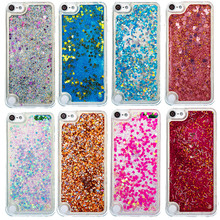 Dynamic Liquid Glitter Sand Quicksand Star Soft TPU Bling Phone Case For iPod touch 5 touch 6 Cover Mobile Phone Shell