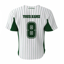 Knitted Pinstripes Style Baseball Jersey Sublimated Polyester Custom Softball  jerseys Collage Training Match Team Wear Shirts