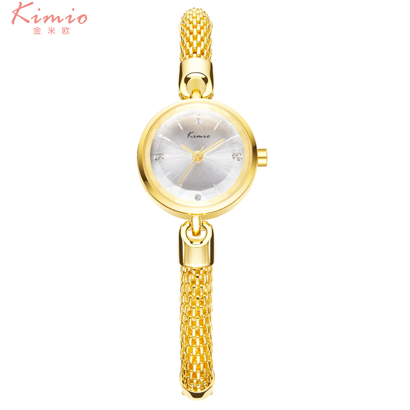 Fashion Brand KIMIO Ladies Elegant  Gold Mesh Belt Wristwatch Casual Women Stainless Steel Waterproof Dress Clock Montre Femme<br><br>Aliexpress