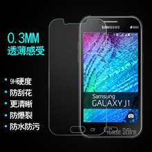 0.26mm 9H tempered glass For Samsung Galaxy J1 J100 J100F 4.3inch screen protector protective guard Cover film Strong Package(China)