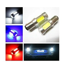 Big Promotion 1156 BA15S 7.5W COB LED Car Auto Turn Signal Lights Backup Reverse Bulb Replacement Lamp Red/Yellow/White(China)